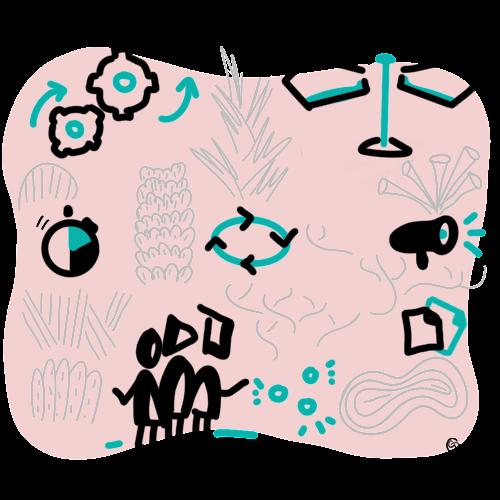 Facilitation du travail en équipe et de la réflexion collectives à travers une prestation de dynamiques collaboratives avec Cindy Daupras